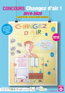 Affiche primée parmi les écoles de Bordeaux ayant participé au concours Changez d'air 2020