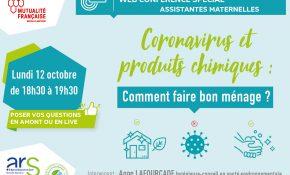 Webconférence pour les assistantes maternelles : coronavirus et produits chimiques : comment faire bon ménage