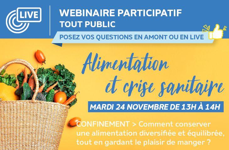 Webinaire Alimentation et Confinement 24 novembre 2020