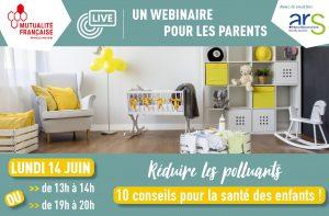 un webinaire pour les parents pour réduire les polluants de la chambre des enfants